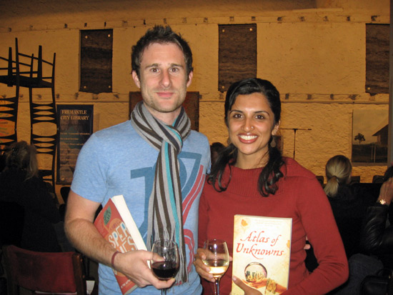 Craig Silvey and Tania James with their novels.