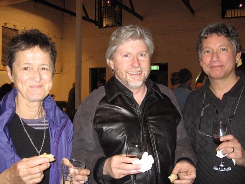 Prue Robertson, Jon Price and Peter Goellnicht