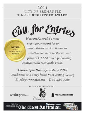 Enter the 2014 City of Fremantle T.A.G. HungerfordAward