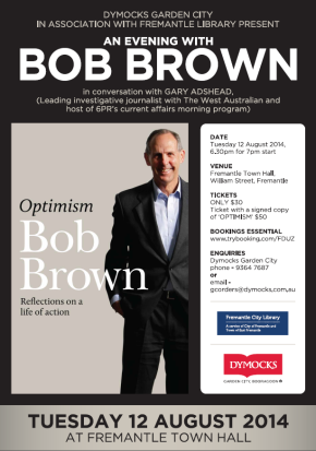 Bob Brown at Fremantle Town Hall