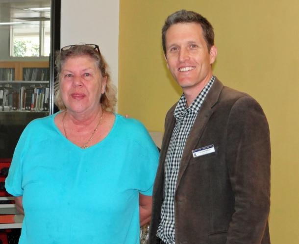 Gail Thorn with Josh Wilson