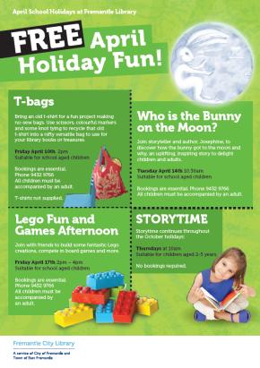 April 2015 school holidays at Fremantle CityLibrary