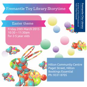 Easter Storytime 2015 at Fremantle ToyLibrary