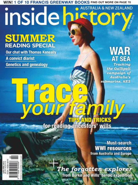 Just one of the many free magazines – Inside History | Fremantle Library