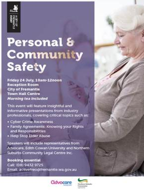 Personal and community safety – July 2015