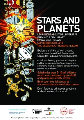 School holiday activity September 2015 – Stars and Planets