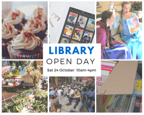 Saturday 24 October Library Open Day and Book Sale