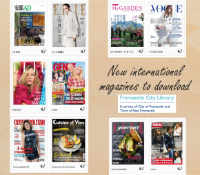 New international magazine titles available todownload