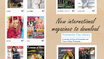 New – download magazines with Zinio | Fremantle Library
