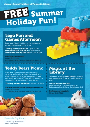 January 2016 school holiday activities