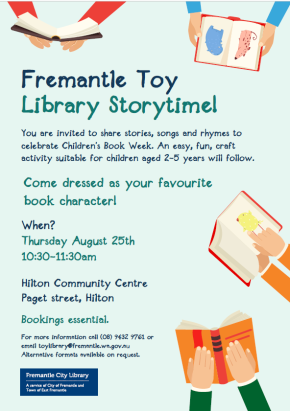 Fremantle Toy Library storytime