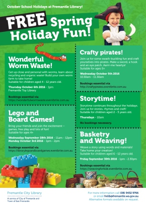 October 2016 school holiday fun